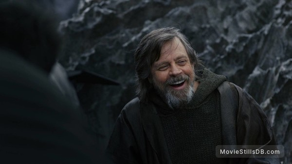 Star Wars: The Last Jedi - Behind the scenes photo of Mark Hamill