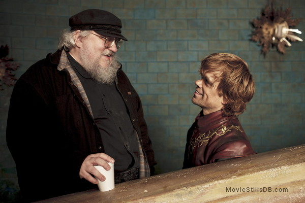 Game of Thrones - Promo shot of George R. R. Martin & Peter Dinklage