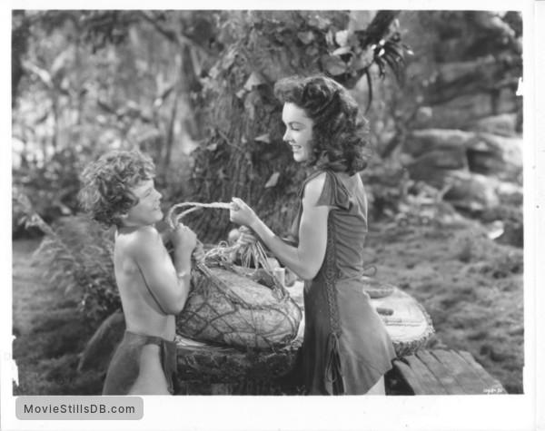 Tarzan's Secret Treasure - Publicity still of Maureen O'Sullivan & Johnny Sheffield