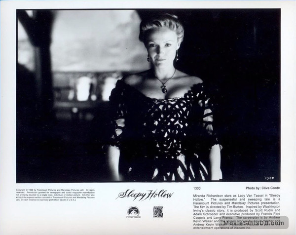 Sleepy Hollow - Lobby card with Miranda Richardson