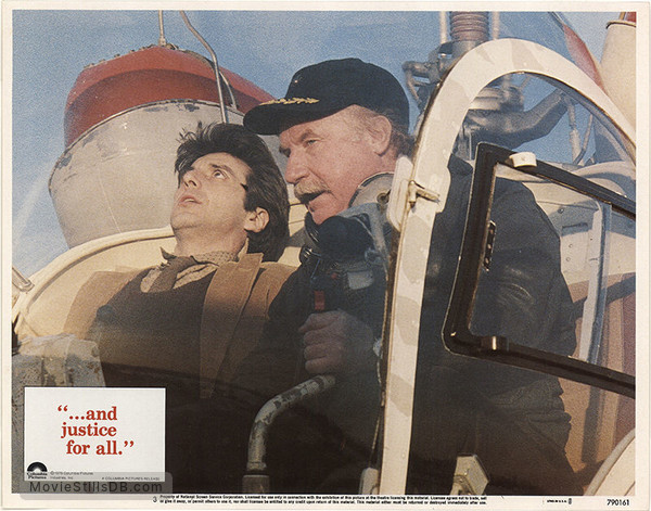 ...And Justice for All - Lobby card with Al Pacino & Jack Warden